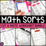 Cut and Paste Math Sorts Bundle