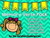 Cut and Paste Memory Verse Pack