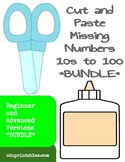 Cut and Paste Missing Numbers 10s to 100, Beginner and Advanced Versions Bundle