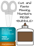 Cut and Paste Missing Numbers Beginner and Advanced Versions MEGA Bundle