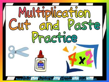 Cut and Paste Multiplication Practice