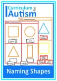 Naming Shapes Worksheets Autism Special Education Cut and Paste