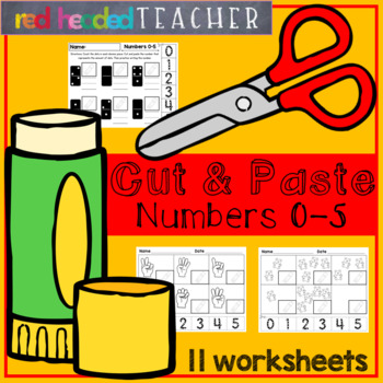 Cut and Paste Number Sorts (Numbers 0-5)