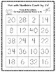 Cut-and-Paste Number Worksheets Numbers 1-20, Count by 2's, 4's, 5's, 10's