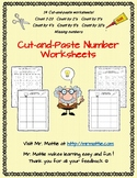 Cut-and-Paste Number Worksheets Numbers 1-20, Count by 2's