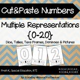 Cut & Paste Numbers:Multiple Representations #0-20, Dice,