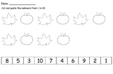 Cut and Paste Numbers  ( Fall Theme)