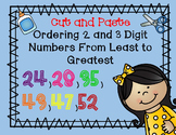 Cut and Paste Ordering 2 and 3 Digit Numbers From Least to Greatest