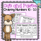 Cut and Paste Ordering Numbers 10 - 20 (Order Teen Numbers) Printables