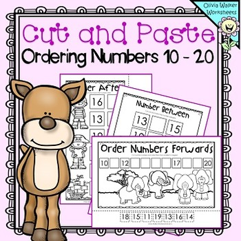 Cut and paste ordering numbers 10 20 order teen numbers printables ibookread PDF