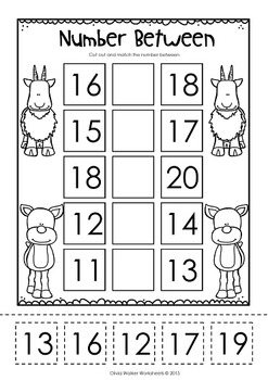 1-20 Number Match! (Cut and Paste) | KinderLand Collaborative ...
