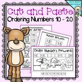 Cut and Paste Ordering Numbers 10 - 20 (Order Teen Numbers) Printables