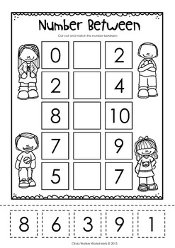 Ordering Numbers to 10 - Cut and Paste (Order Numbers One to Ten) - Printables