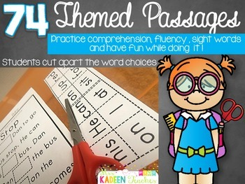 Cut and Paste Passages(SIGHT WORD EDITION) Preview and FREEBIE