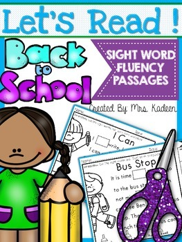 Cut and Paste Passages(Sight Word Edition Back To School)