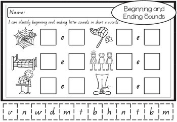 Cut and Paste Phonics - Beginning & Ending Sounds in Long and Short Vowels