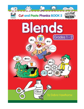 Cut and Paste Phonics Book 2: Blends for Grades 1 and 2