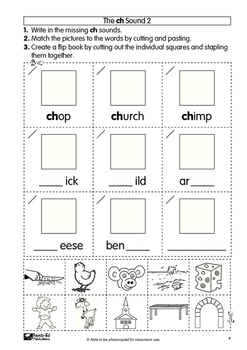Cut and Paste Phonics Book 4 - More Sounds for Grades 1 and 2