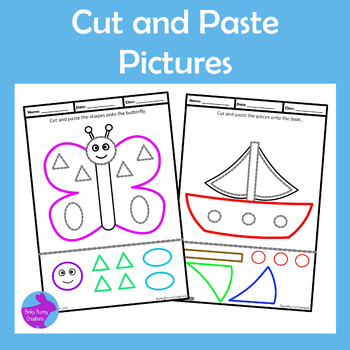 Cut and Paste Pictures Craftivity Fine Motor Skills OT