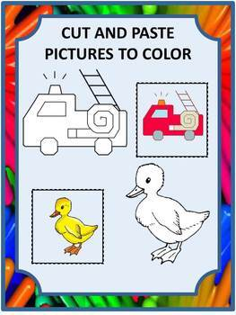 Cut and Paste Coloring Worksheets Craftivities