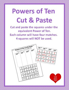 Cut and Paste Powers of Ten