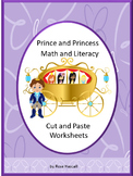 Prince Princess Cut & Paste Worksheets Special Education Preschool Kindergarten