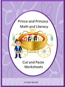 Prince Princess Cut & Paste Worksheets Special Education Preschool Kindergarten