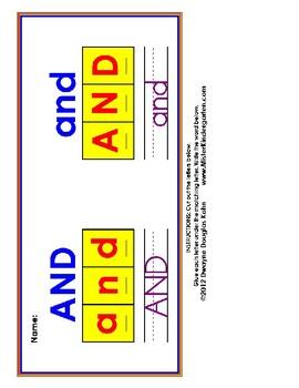 Cut and Paste Rainbow Sight Words BUNDLE