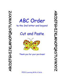 ABC Order (to the 2nd letter and beyond) ~ Cut and Paste