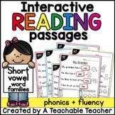 Short Vowel Interactive Reading Passages