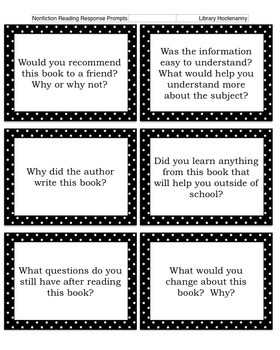 Cut and Paste Reading Response Prompts for Fiction and Nonfiction
