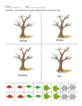 Cut and Paste Season Leaves