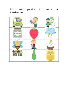 Cut and Paste Sentence Starters