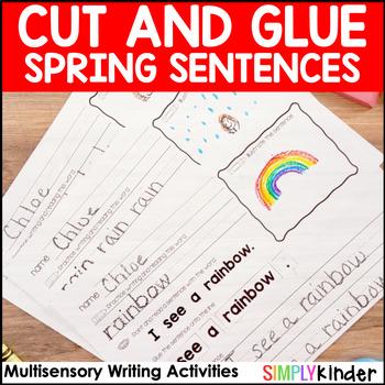 Cut and Glue Sentences - Spring