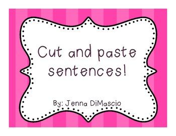 Cut and Paste Sentences 2