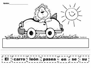 Scrambled Sentences Animals in Spanish
