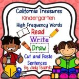 Cut and Paste Sentences (CA Treasures Kindergarten High Frequency Words)