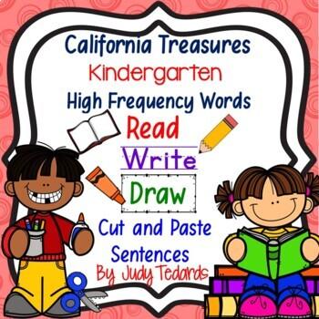 Cut and Paste Sentences (CA Treasures Kindergarten High Fr
