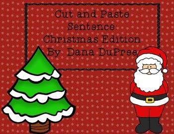 Cut and Paste Sentences--Christmas
