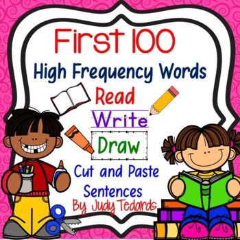 Read, Write, Draw, Cut and Paste Sentences (Fry's First 10