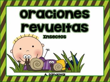 Oraciones revueltas Scrambled Sentences Insects in Spanish