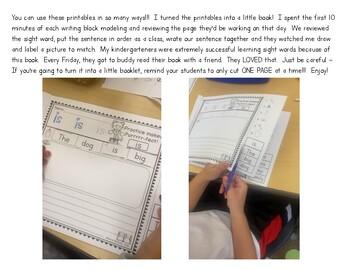 Cut and Paste: Sentences (Sight Words)