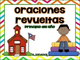 Oraciones revueltas Scrambled Sentences SEPTEMBER  in Spanish