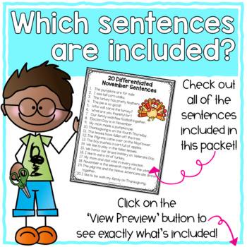 Cut and Paste Sentences_November