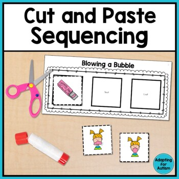 Cut and Paste Sequencing Activities adapted for Special Education and Autism