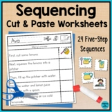 Cut and Paste Sequencing Worksheets for Special Education and Autism (5 step)