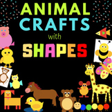 NO PREP Homeschool's Cut and Paste Shape CRAFT -21 Animals