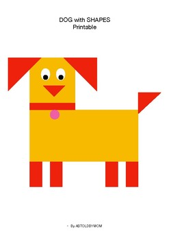 Cut and Paste Shape Craft - Dog Puzzle