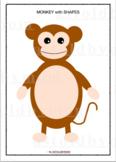 Cut and Paste Shape Craft- Monkey Puzzle