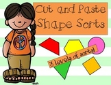 Cut and Paste Shape Sorts